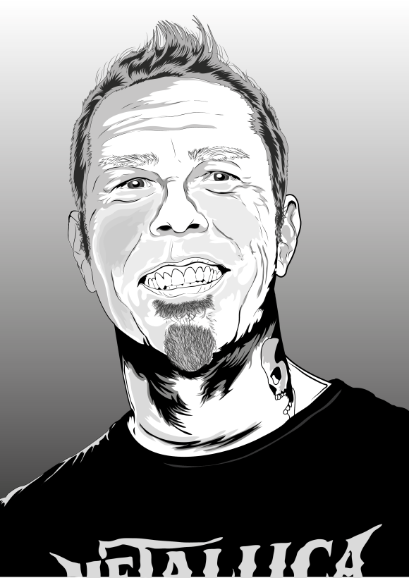 james hetfield vector
