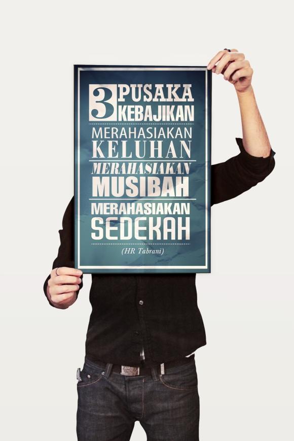 tiga pusaka kebajikan poster